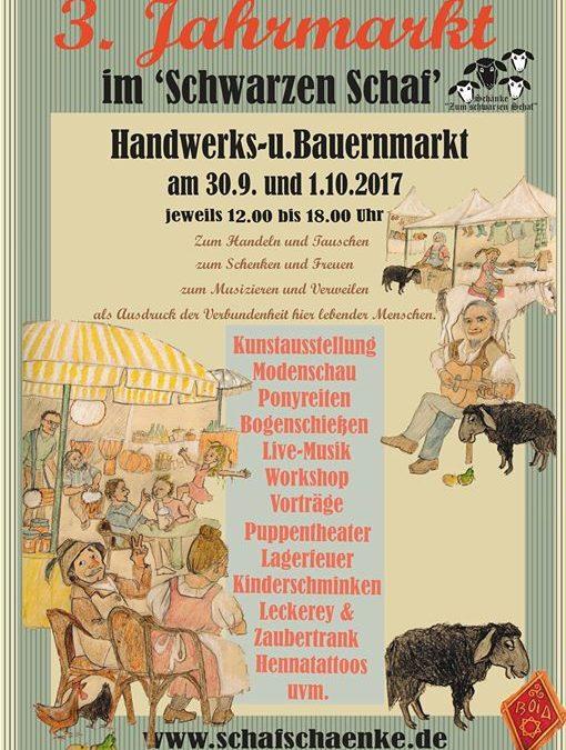 Noch ein Monat… dann geht´s auf zum 3. Jahrmarkt in der Schänke zum schwarzen Schaf… danke Susanne für das wundervolle, liebevoll gemalte Plakat… Ich liebe es!❤️